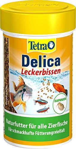 TetraDelica Daphnia (Naturfutter für Zierfische, enthält zu 100% sonnengetrocknete Wasserflöhe), 100 ml Dose