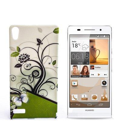 numerva kompatibel mit Huawei Ascend P6 Hülle Motiv Hülle Ascend P6 Schutzhülle Strass QJC-027