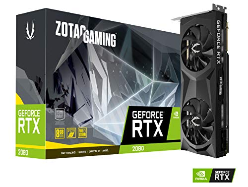 ZOTAC Gaming GeForce RTX 2080 Twin Fan Grafikkarte (NVIDIA RTX 2080, 8GB GDDDR6, 256bit, Boost-Takt 1710 MHz, 14 GHz)
