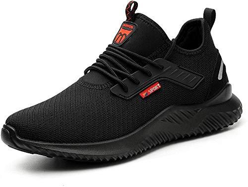 SROTER Zapatos de Seguridad para Hombres de Acero con Puntera Mujer Zapatillas de Seguridad Trabajo Deportivas Ligeras e Industriales