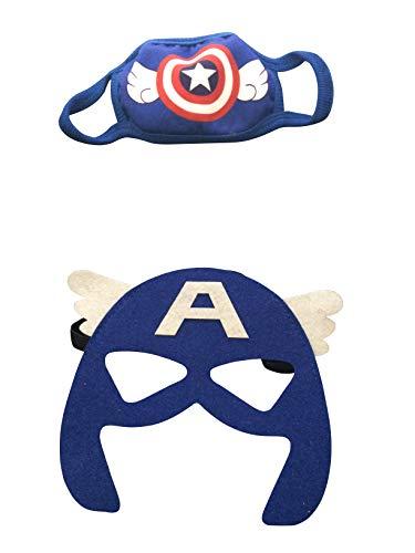 Superhero Face Mask,Safety Face Mask for Boys, Kids Cartoon Face Mask Comfortable and Reusable Mask. (Batman)