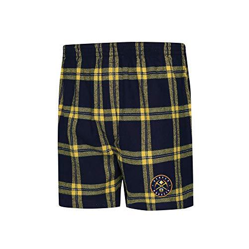 Concepts Sport Denver Nuggets Men's Boxers Flannel Boxer Shorts (X-Large)