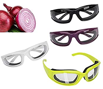 Onion Goggles Glasses Eye Protector with Inside Sponge Onion Cutting Goggles for Women Men Cooking Tearless Dust-Proof BBQ Grilling 4 Pieces