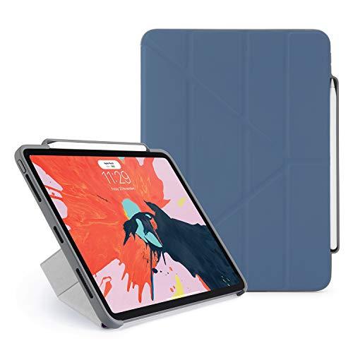 Pipetto Federmäppchen für iPad Pro 11 (glattes iPad Pro 11) mit 2 Lade- und Synchronisierungsfunktionen, zusammenklappbar, Marineblau