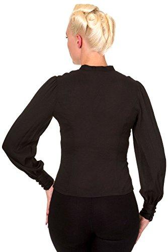 Banned Bluse Bright Side Shirt 1029 Schwarz S