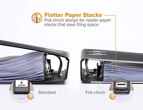 Bostitch EZ Squeeze 130 Sheet Flat Clinch Heavy Duty Stapler, Reduced Effort, Black (B8130) Photo #5