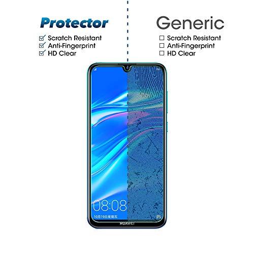 Widamin 2Pack, Panzerglas Compatible Con Huawei Y7 2019, Displayschutzfolie, Hohe Auflösung Glas,[9H Härte], [Crystal Clearity], [Kratzfest], [No-Bubble] für Huawei Y7 2019 - 6