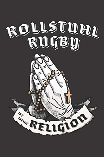 Rollstuhl Rugby Ist Meine Religion: DIN A5 6x9 I 120 Seiten I Punkteraster I Notizbuch I Notizheft I Notizblock I Geschenk I Geschenkidee