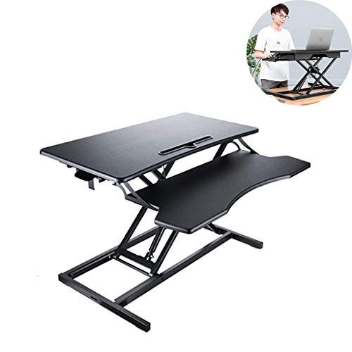 Verstelbare Permanent Bureau Converter, Wide laptopstandaard, Stand verheffende Top Workstation met toetsenbord lade, ergonomisch tafelblad Desk Stand