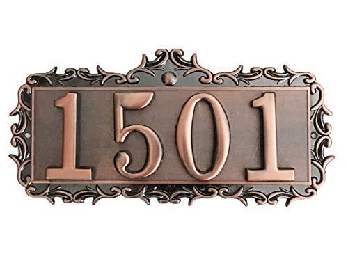 LONTG - Número de casa personalizable de metal con números de puerta o dormitorio