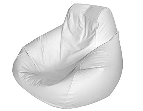 E-SeaRider Teardrop Marine Beanbag, White/White, Medium