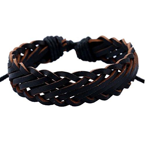 shiYsRL Summer Bracelets String Chain Charm Jewelry Fashion Faux Leather Rope Bracelet Men Women Jewelry Birthday Party Decor Gift for Women Girls Gifts - Black