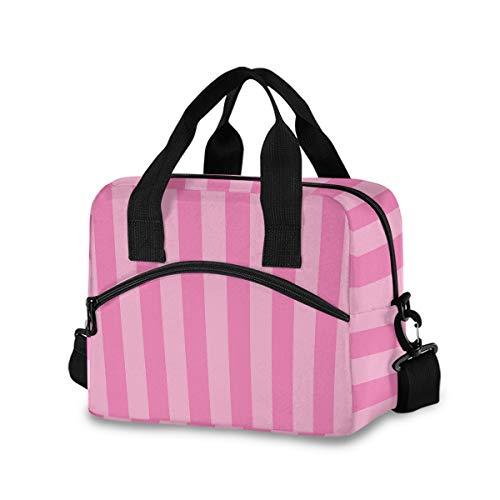 Pink Lunch Bags for Women Leakproof Crossbody Lunch Bag Lunch Bag with Shoulder Strap lunch Box Purse Lunch Cooler Bag for Women,Nurse,Teachers(k2)