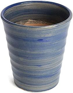 鉢 KANEYOSHI 【日本製/安心の国産品質】 フラワーロード 素焼 植木鉢 シアン ナイルブルー 19.5cm 6号