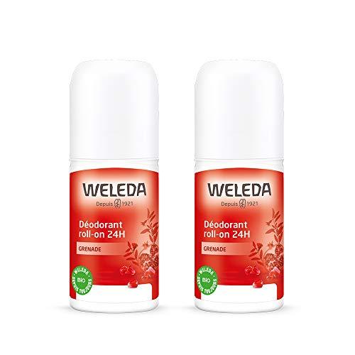Weleda Roll-on 24H - Desodorante de granada (2 unidades de 50 ml)