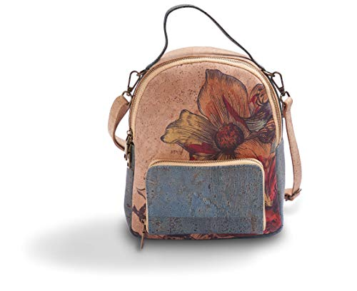 Kork Rucksack aus Kork Leder für Damen - Umweltfreundlich und Ökologisch (Blue)