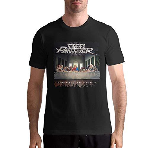 AYYUCY Sportbekleidung Herren Kurzarmshirt Steel Panther All You Can Eat Classic Men's Tops Short Sleeve T-Shirt