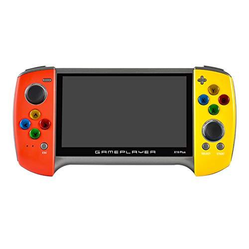 WIIBST Consola de Juegos portátil, X19 Plus Consola de Videojuegos Retro portátil de 5,1 Pulgadas, Juego 10000 Integrado, Compatible con FC GBA niños y Adultos