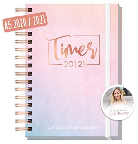 Häfft-Timer 2020/2021 A5 [Cali Kessy Edition] Schüler-Kalender, Schüler-Planer, Schulplaner, Semesterplaner für Oberstufe, Ausbildung oder Studium | nachhaltig & klimaneutral