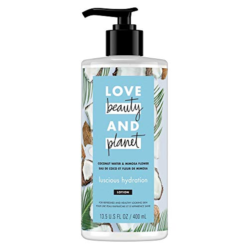 Love Beauty & Planet Luscious Hydration Body Lotion Coconut Water and Mimosa Flower 13.5 oz
