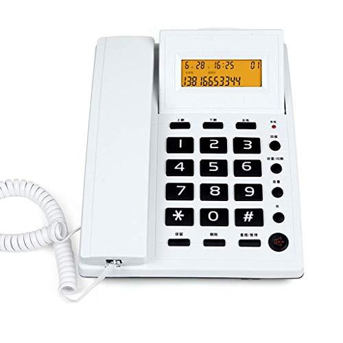 Teléfonos con cable Teléfonos fijos Pantalla LCD Dial de velocidad Teléfono con cable de escritorio con botón grande amplificado Tephone Color blanco y negro opcional/20,5 * 16 cm