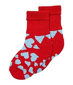 Happy Socks Heart Cozy Sock  Toddler/Little Kid  Light Red 4-6 Years  US 11-13.5 Little Kid