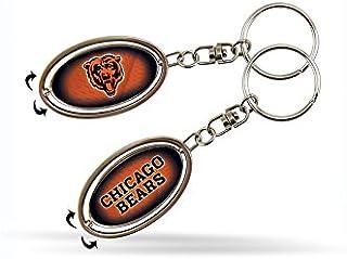 NFL Chicago Bears Bear Head Logo Spinner Keychain