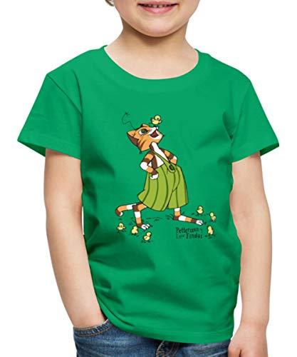 Pettersson Und Findus Spielt Mit Süßen Küken Kinder Premium T-Shirt, 110-116, Kelly Green