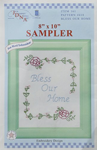 Stamped Blanc Sampler 22,9 x 27,9 cm -Bless Our Home