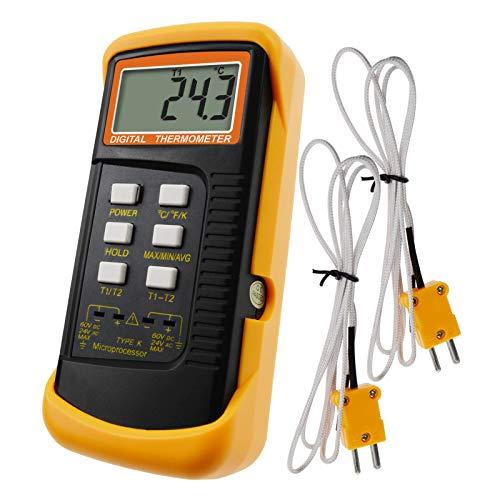 Digital 2 K-Tipo Termómetro Con Sensor De Termopar 1300 ° C (2372 ° F)