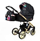 Cochecito de bebe 3 en 1 2 en 1 Trio Isofix silla de paseo Luminus by SaintBaby Palm Flowers 3in1 con Silla de coche