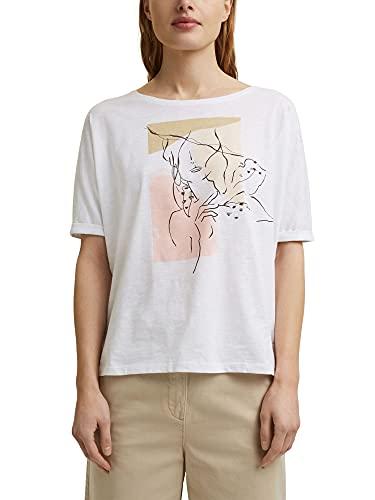 ESPRIT T-Shirt mit Line-Art, Organic Cotton
