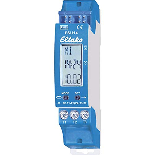 Eltako 4407476 Bus-Schaltuhr RS485 mit Display, 8-Kanal FSU14