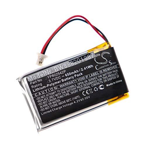 vhbw batería Compatible con Sena SMH-10S, SMH-20S Auriculares inalámbricos Cascos (650mAh, 3,7V, polímero de Litio)