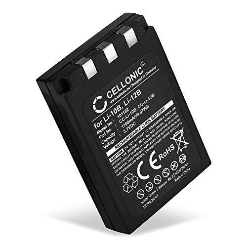 CELLONIC® Batería Compatible con Olympus C-770 C-765 UltraZoom C-760 C-50 Zoom C-60 C-70 C-5000 C-7000 FE-200 Stylus 300 Mju 400 300 IR-500 Micro 600 X-500 D-590 LI-10B LI-12B 1100mAh Pila Repuesto