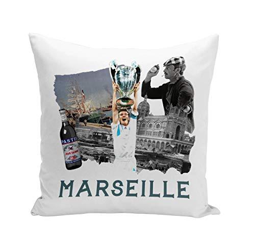Fabulous Coussin 40x40 cm Marseille Collage France Ville Pastis Om