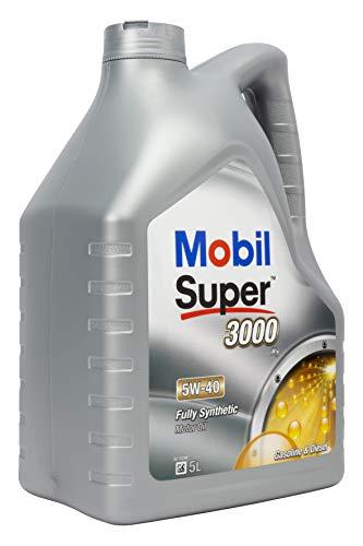 Mobil Super 3000 X1 5W-40 -Lubricante Motor Automóvil, 5 litros