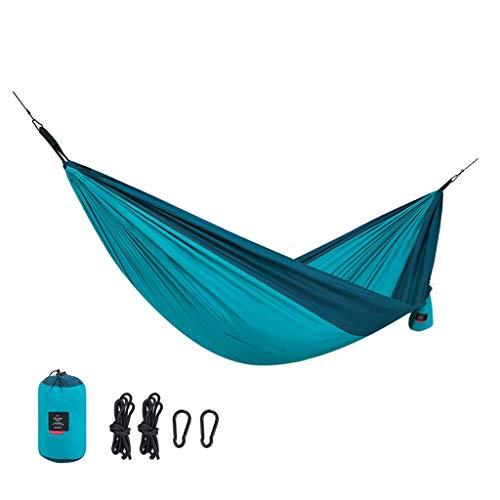 LF stores-Hängematten Hängematte Outdoor Doppel Rollover Erwachsene Kinder Feld Camping Klappstuhl Komfortable Schaukel 180 KG / 396LB (Color : Blue, Größe : 290 * 180cm)