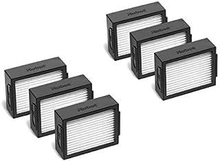 IRobot i7 シリーズ消耗品 ルンバ i7 i7+/i7 plus E5 E6 ヘパフィルター,エッジクリーニングブラシ,デュアルアクションブラシ,布ゴミ袋 ロボット掃除機 交換用消耗品アクセサリー 交換パーツ (6個ヘパフィルター)