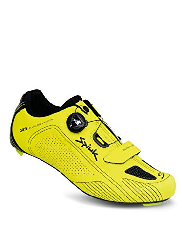 Spiuk Altube Road Zapatilla, Unisex Adulto, Amarillo Fluor Mate, 49