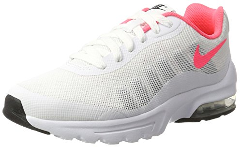 Nike Air Max Invigor GS, Scarpe da Ginnastica Bambina, Multicolore (White/Hot Punch/Black/Wolf Grey), 36.5 EU