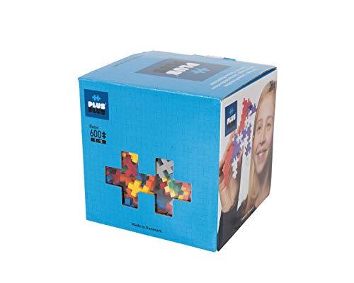 PLUS PLUS - Open Play Set - 600 Piece - Basic Color Mix, Construction Building Stem Toy,...