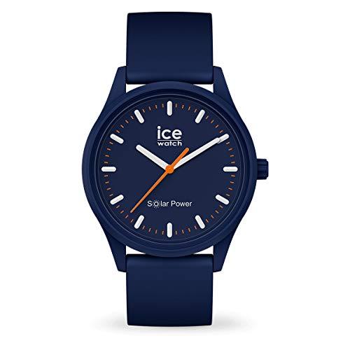 Ice-Watch - ICE solar power Atlantic - Reloj blu para Hombre (Unisex) con Correa de silicona - 017766 (Medium)