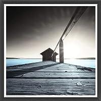 ポスター アーティスト不明 Old Boathouse 額装品 ウッドベーシックフレーム(ブラック)