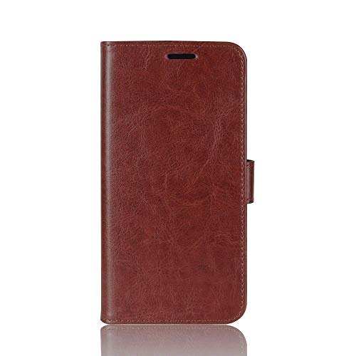 Zl One Compatível com/Substituição para Capa de telefone LG Q6 / Q6 Plus Couro PU Proteção Cartão Slots Capa carteira Flip Case (Marrom)