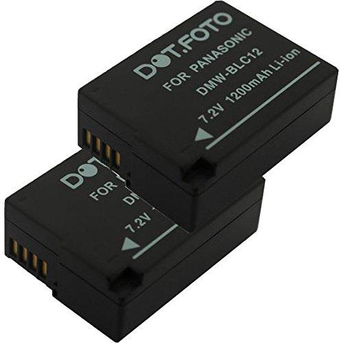2x Dot.Foto Qualitätsakku für Panasonic DMW-BLC12,DMW-BLC12E - 7,2v / 1200mAh - Garantie 2 Jahre [Siehe Beschreibung für die Kompatibilität]