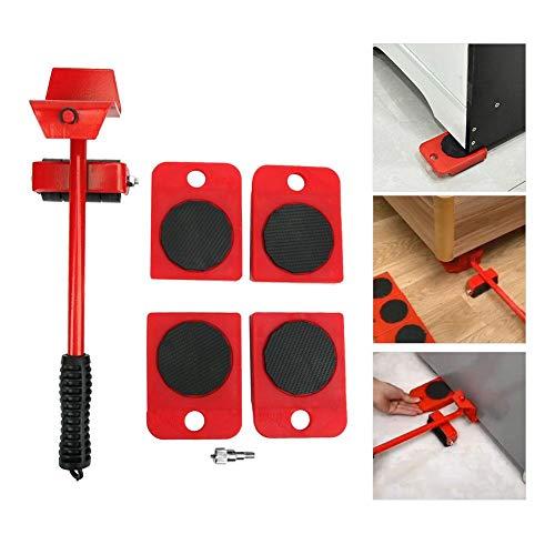 Herramienta para mover muebles, herramienta para mover muebles pesados Espesar las ruedas giratorias Mover la palanca de cambios de transporte con base y rodillo de repuesto para cajones Sofá cama