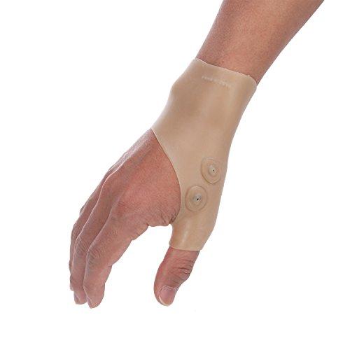 SUPVOX Compresión muñequera muñequera silicona y guantes estabilizadores para la muñeca y el pulgar apoyan la mano artritis alivio del dolor