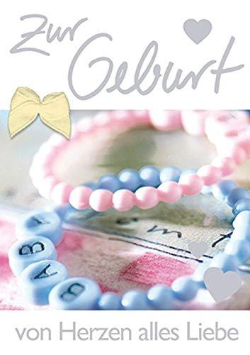 Kaart voor de geboorte mini-Card - armbanden, strik - 5,2 x 7,4 cm