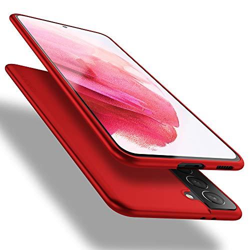 X-level Samsung Galaxy S21 Plus 5G Hülle, [Guardian Serie] Soft Flex TPU Hülle Superdünn Handyhülle Silikon Bumper Cover Schutz Tasche Schale Schutzhülle für Samsung Galaxy S21 Plus 5G - Rot